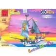 """Конструктор (Brick) серии """"Пиратская серия Пираты Барбара / Corsar Series Barbara"""" """"Королевский военный корабль"""" (аналог LEGO)"""